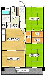 新栄二日市ハイツ[401号室]の間取り