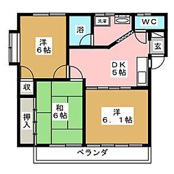 コーポめぐみII[2階]の間取り