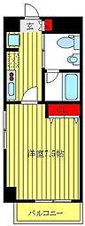 都営三田線 板橋本町駅 徒歩9分の賃貸マンション 3階1Kの間取り