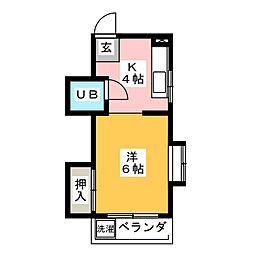 ハウス木村[2階]の間取り