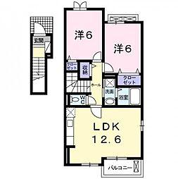 クレストガーデンII[2階]の間取り
