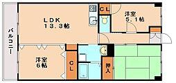 サンセール博多南2[3階]の間取り