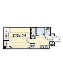 福岡県北九州市小倉北区貴船町の賃貸マンションの間取り