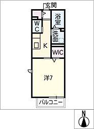 ボヌール B棟[2階]の間取り
