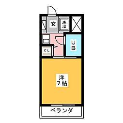 ガウディ桜井本町[1階]の間取り