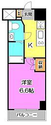 プラウドフラット富士見台[8階]の間取り