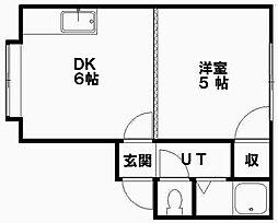 パール第1つちだマンション[10号室]の間取り