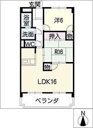 ソレアード千代鶴[4階]の間取り