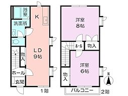 [テラスハウス] 神奈川県横浜市旭区中尾1丁目 の賃貸【/】の間取り