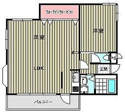 ロイヤルスプリングス[2階]の間取り