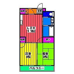 福岡県福岡市博多区諸岡4丁目の賃貸マンションの間取り