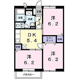 サンホーム[0201号室]の間取り