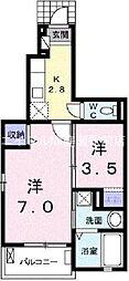プリムローズ・ドゥ・アンジュII[1階]の間取り