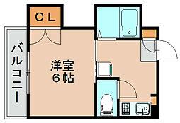 スリム箱崎[3階]の間取り