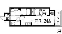 ONLYONE鶴之荘[5階]の間取り