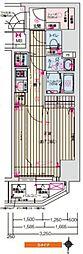 ララプレイス阿波座フェリオ[2階]の間取り