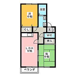 コーポ南浦[1階]の間取り