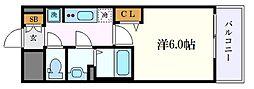 名古屋市営名城線 矢場町駅 徒歩5分の賃貸マンション 5階1Kの間取り