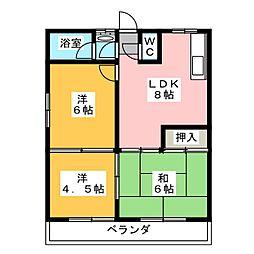 コーポ征子北館[2階]の間取り