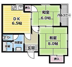 シティライフ廻戸[3階]の間取り