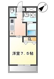 (仮)那覇市三原1K新築マンション 1階1Kの間取り