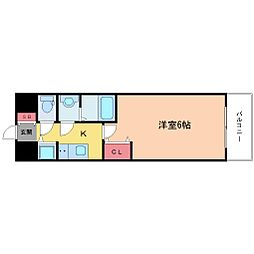Lala place(ララプレイス)ザ・大阪リヴァージュ[5階]の間取り