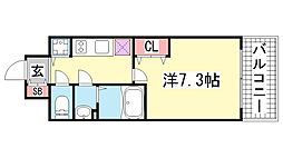 プレサンス三宮フラワーロード[6階]の間取り