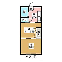 イーグルハイツ小松島II[1階]の間取り