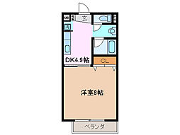 サープラスワン伊藤[2階]の間取り