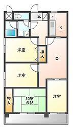 新栄第7ロイヤルマンション[10階]の間取り