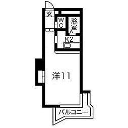 藤井ビル北17条II[6階]の間取り