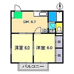 エル橋田[1階]の間取り
