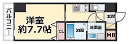 CROUD尼崎 3階1Kの間取り