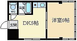 天正ビル 5階1DKの間取り