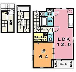 埼玉県北本市大字北本宿の賃貸アパートの間取り