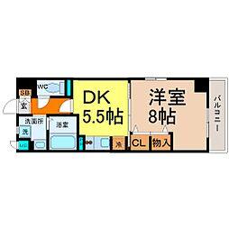 愛知県名古屋市中村区太閤通8の賃貸マンションの間取り