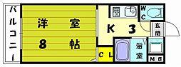 福岡県福岡市東区和白東5丁目の賃貸マンションの間取り