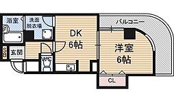 フォルム東三国 5階1DKの間取り