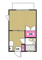 ワールドハイツ[1-D号室]の間取り