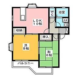 Sakura A[2階]の間取り