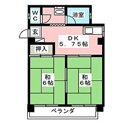 松本ビル[2階]の間取り