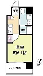 Live Casa 上新庄 6階1Kの間取り