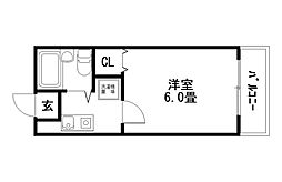 H・Sハイツ[1階]の間取り