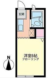 エクセル湘南[1階]の間取り