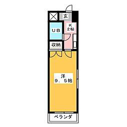 フローラ新藤[5階]の間取り