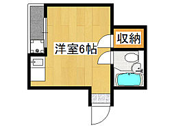 ファースト田島[4階]の間取り