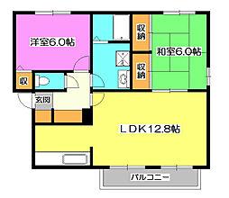 ベルハイムA[1階]の間取り