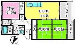 コーポウィステリア24[2階]の間取り