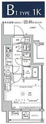 MAXIV KAWASAKI 5階1Kの間取り