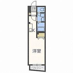 東洋ハイツA[4階]の間取り